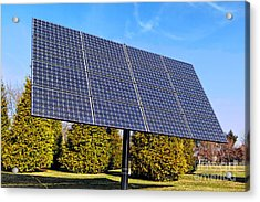 Photovoltaic Acrylic Print by Olivier Le Queinec