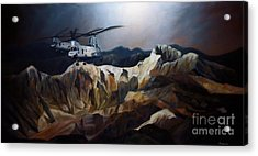 Phrogs Over Afghanistan Acrylic Print by Stephen Roberson