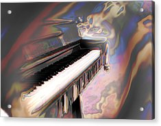 Phsyco Keys Acrylic Print by Frederico Borges