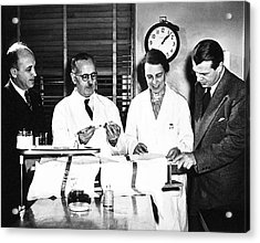 Physiology Researchers Acrylic Print by National Library Of Medicine