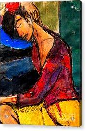 Pia #3 - Detail - Figure Series Acrylic Print by Mona Edulesco