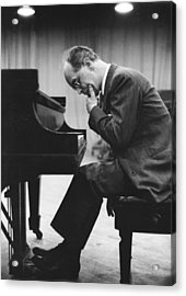 Pianist Rudolf Serkin Acrylic Print by Underwood Archives