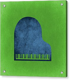 Piano Blues Acrylic Print by Flo Karp
