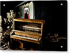 Piano In The Dark.  Acrylic Print