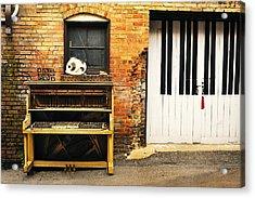 Piano Keys Acrylic Print by Joe Longobardi