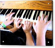 Piano Lessons Acrylic Print