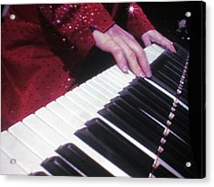 Piano Man At Work Acrylic Print by Aaron Martens