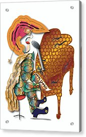 Acrylic Print featuring the digital art Piano Man by Marvin Blaine
