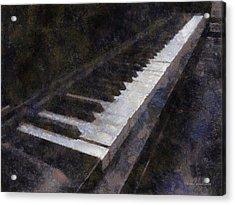 Piano Photo Art 01 Acrylic Print by Thomas Woolworth