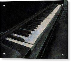Piano Photo Art 02 Acrylic Print by Thomas Woolworth