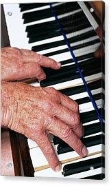 Piano Playing Acrylic Print by Jerry Mason/science Photo Library