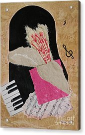 Acrylic Print featuring the painting Piano Still Life by Mini Arora