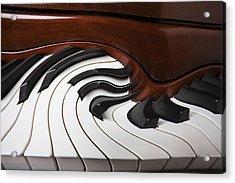 Piano Surrlistic Acrylic Print by Garry Gay
