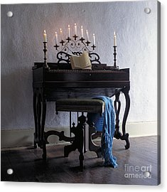 Piano With Candelabra Acrylic Print