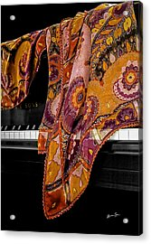Piano With Scarf Acrylic Print by Madeline Ellis