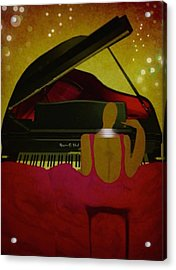 Pianochic Acrylic Print by Romaine Head