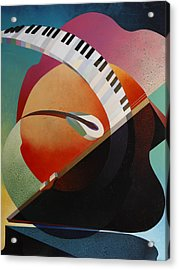 Pianoforte Acrylic Print by Fred Chuang
