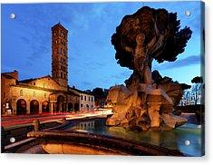 Piazza Della Bocca Della Verita' Acrylic Print