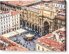 Piazza Della Repubblica Acrylic Print by Liz Leyden