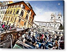 Piazza Di Spagna Acrylic Print by Francesco Zappala