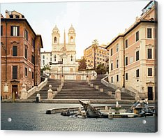Piazza Di Spagna, Spanish Steps, Rome Acrylic Print by Spooh