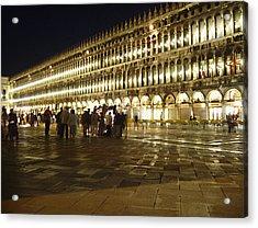 Piazza San Marco Acrylic Print by Ellen Henneke