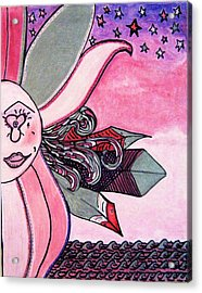 Picasso Lois Golden Rose Art Treasure Hunt Puzzle Number Won Acrylic Print by Lois Picasso