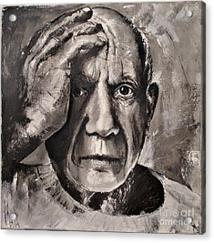 Acrylic Print featuring the painting  Portrait Of Pablo Picasso by Maja Sokolowska