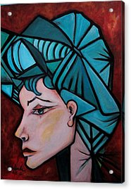 Acrylic Print featuring the painting Picassogirl by Yolanda Rodriguez