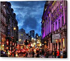 Piccadilly Circus 001 Acrylic Print by Lance Vaughn