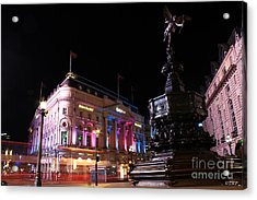 Piccadilly Circus Acrylic Print by Size X