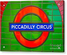 Acrylic Print featuring the photograph Piccadilly Circus Tube Station by Luciano Mortula