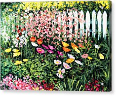 Pickets N' Poppies Acrylic Print