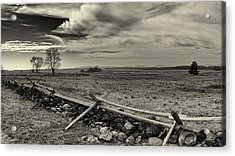 Picketts Charge The Angle Black And White Acrylic Print by Joshua House