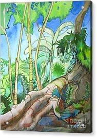 Picking Acrylic Print by Maya Simonson
