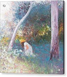 Picking Wildflowers Landscape Acrylic Print