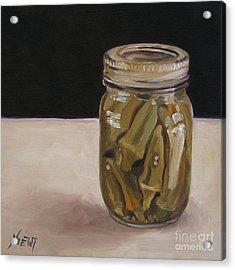 Pickled Okra Acrylic Print