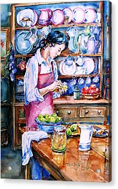 Acrylic Print featuring the painting Pickling Pears  by Trudi Doyle