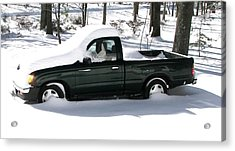 Acrylic Print featuring the photograph Pickup In The Snow by Pamela Hyde Wilson