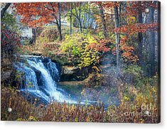 Acrylic Print featuring the photograph Pickwick Mill Falls by Kari Yearous