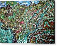 Picnic By The Lake Acrylic Print by Matthew  James