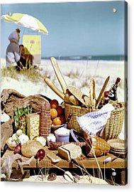Picnic Display On The Beach Acrylic Print