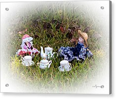 Picnic For Dolls Acrylic Print