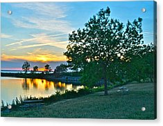Picnic Lake Acrylic Print by Frozen in Time Fine Art Photography