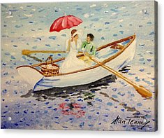 Acrylic Print featuring the painting Picnic by Stan Tenney