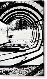 Picnic Table And Gazebo Acrylic Print