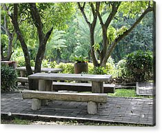 Acrylic Print featuring the photograph Picnic Table by Cyril Maza