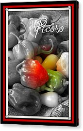 Picoso Peppers Acrylic Print