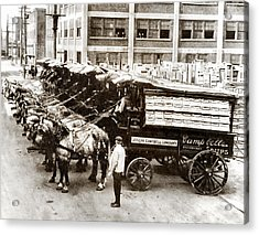 Picture 11 - New - Campbells Soup Wagons Acrylic Print
