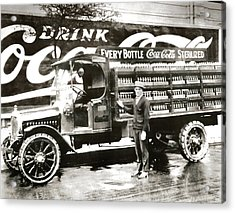 Picture 7 - New - Coca Cola Delivery Truck Acrylic Print
